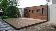 Aus Kebony Holz gefertigt und mit Aluminium Unterkonstruktion extrem dauerhaft gemacht. Ein schöner Sommertraum aus Holz.